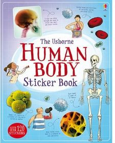 HUMAN BODY STICKER BOOK -AA.VV.-9781409532781