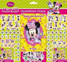 MINNIE SUPER STICKER SET 500 PEGATINAS-DISNEY-9785593806529