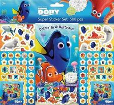 DORY SUPER STICKER SET 500 PEGATINAS-DISNEY-PIXAR-9785593809353