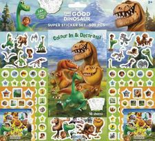 GOOD DINOSAUR SUPER STICKER SET 500 PEGATINAS-DISNEY-PIXAR-9785593809797