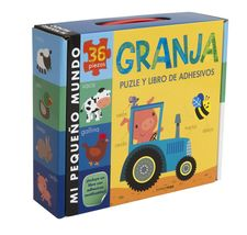 GRANJA. PUZLE Y LIBRO DE ADHESIVOS-LITTLE TIGER PRESS-9788408134947