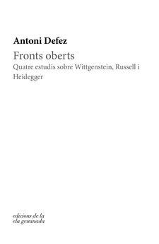 FRONTS OBERTS-DEFEZ, ANTONI-9788412143010