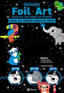 FOIL ART. COLOREA CON PAPEL BRILLANTE. ANIMALES-VV.AA.-9788469628577