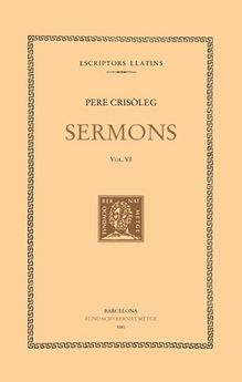 SERMONS. VOL. VI-CRISOLEG, PERE-9788472257733