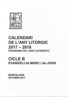 CALENDARI DE L'ANY LITÚRGIC 2017-2018 (CLICLE B)-BONET, MOSSEN MANUEL-9789510031469